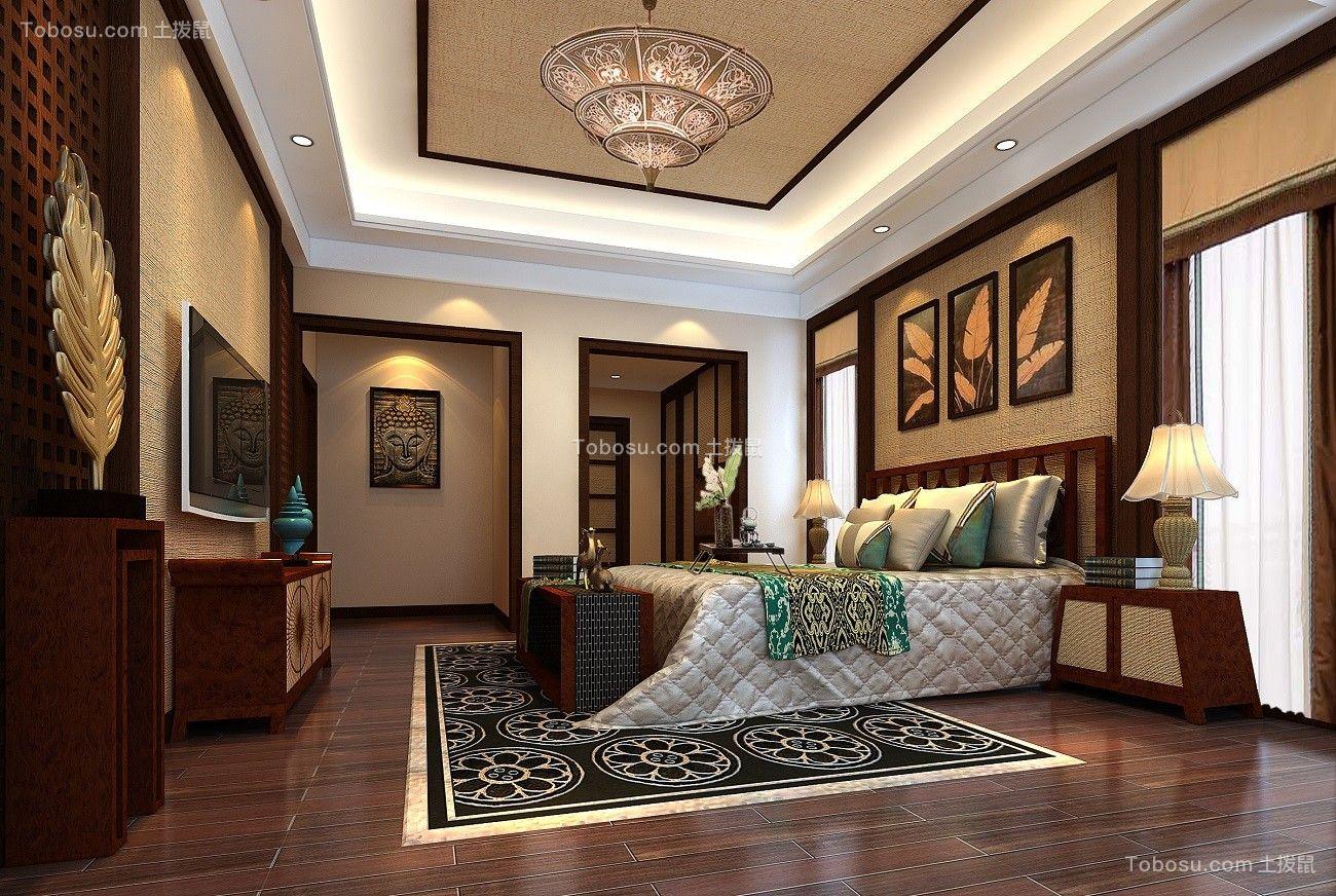 2018新中式卧室装修设计图片 2018新中式床图片