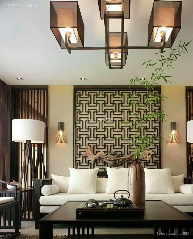 2018新中式客厅装修设计 2018新中式茶几效果图