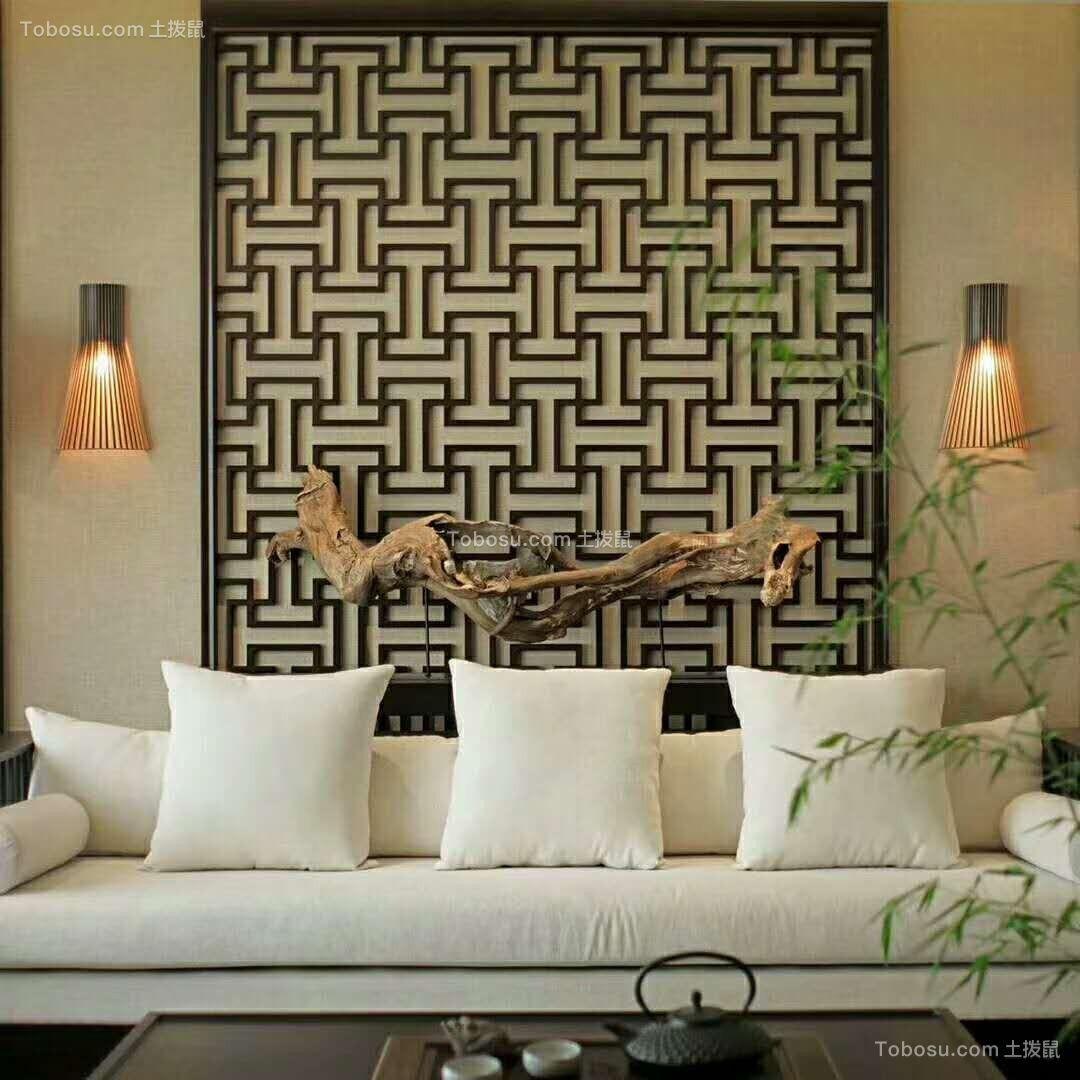 112平新中式风格三居室装修效果图
