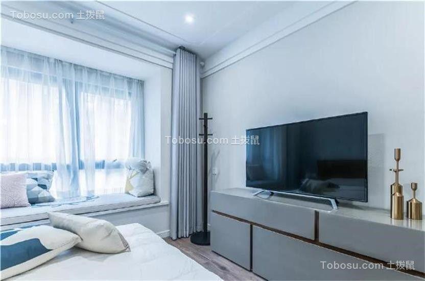 2018现代简约卧室装修设计图片 2018现代简约电视柜效果图