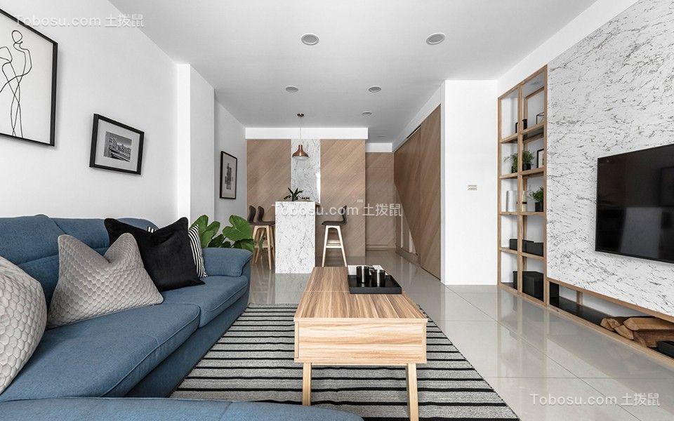 2018现代简约客厅装修设计 2018现代简约吊顶设计图片