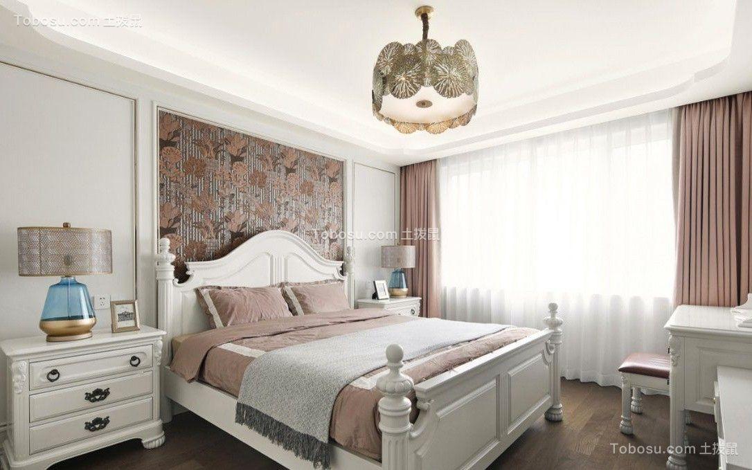 2018美式卧室装修设计图片 2018美式窗帘装修效果图片