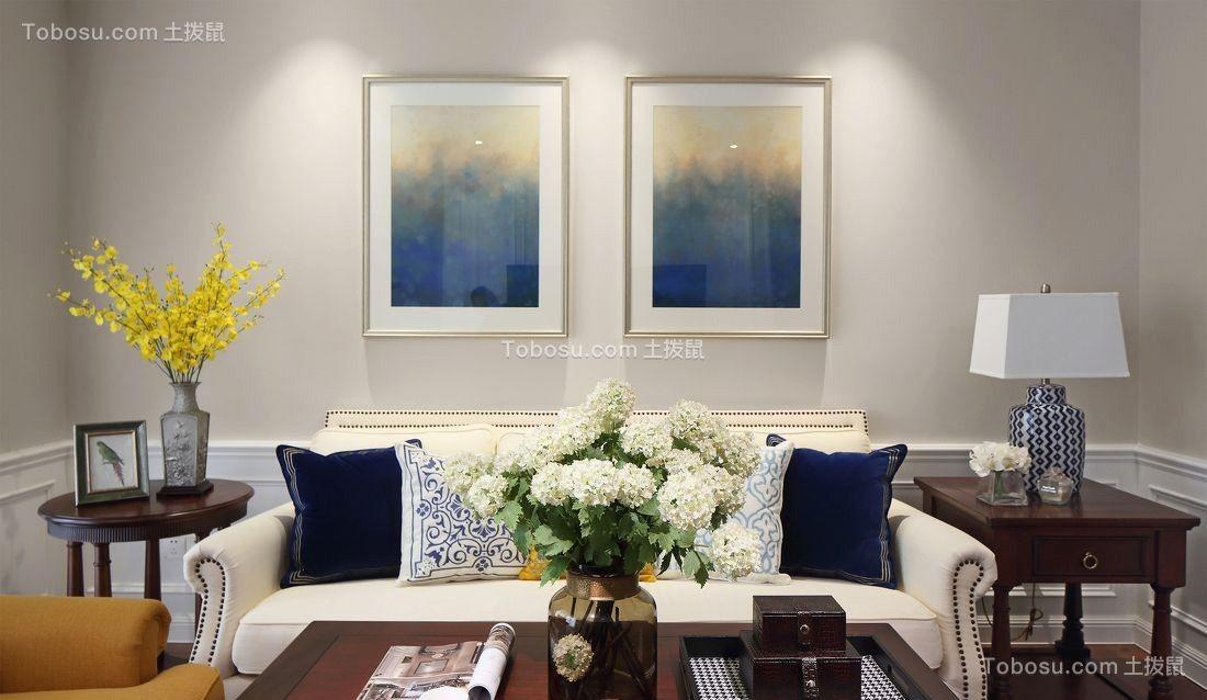 2018美式客厅装修设计 2018美式背景墙图片