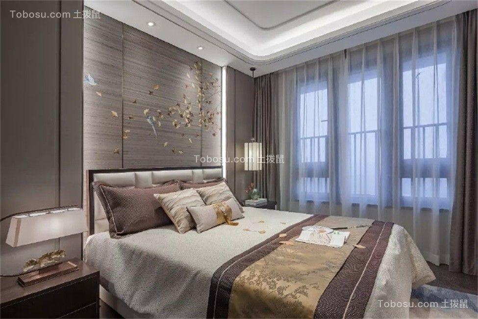 130平三居室新中式装修效果图