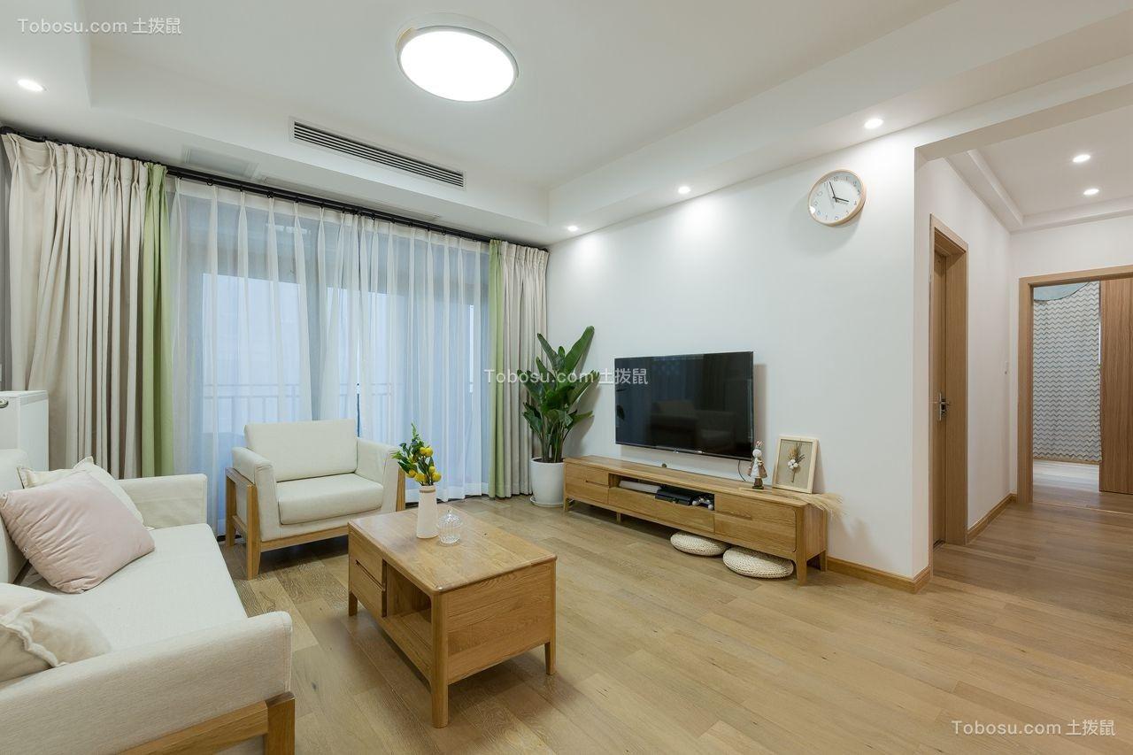 87平日式风格三居室装修效果图