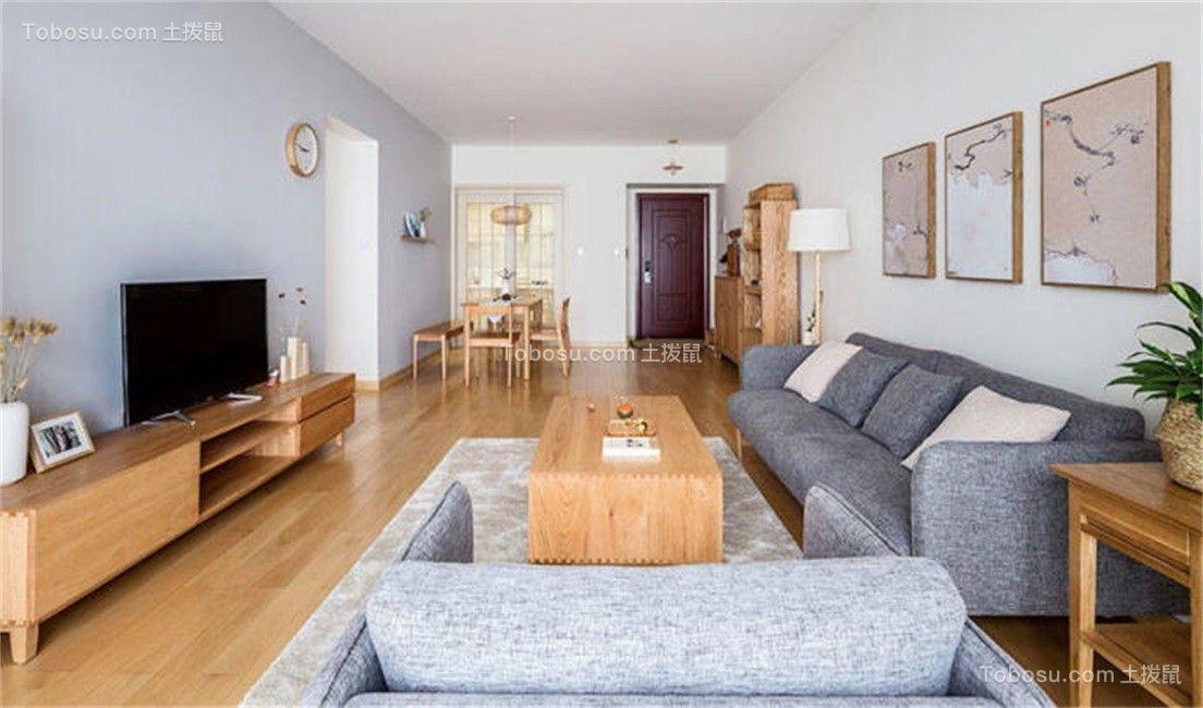 76平日式风格两居室装修效果图