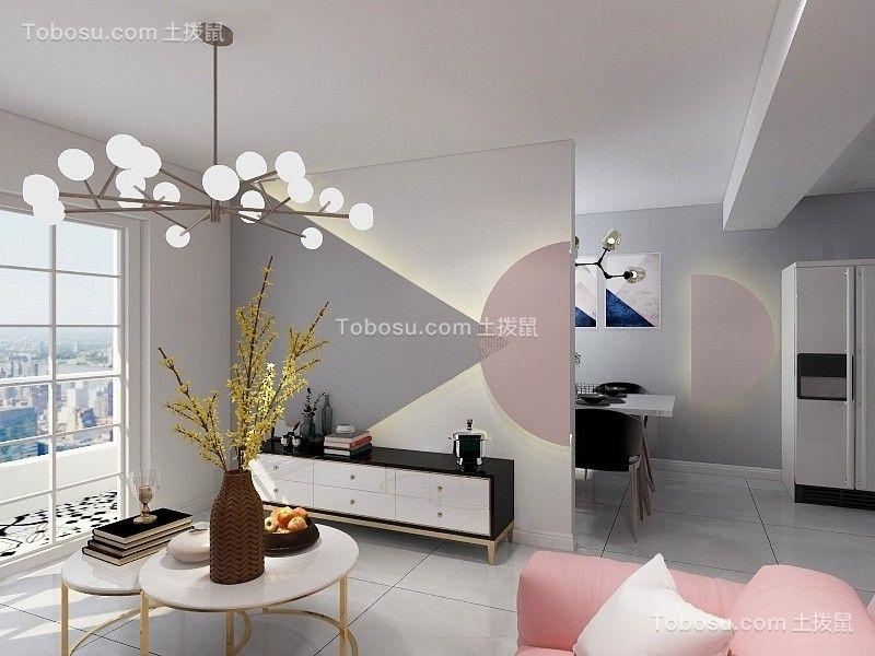 116平现代风格两居室装修效果图