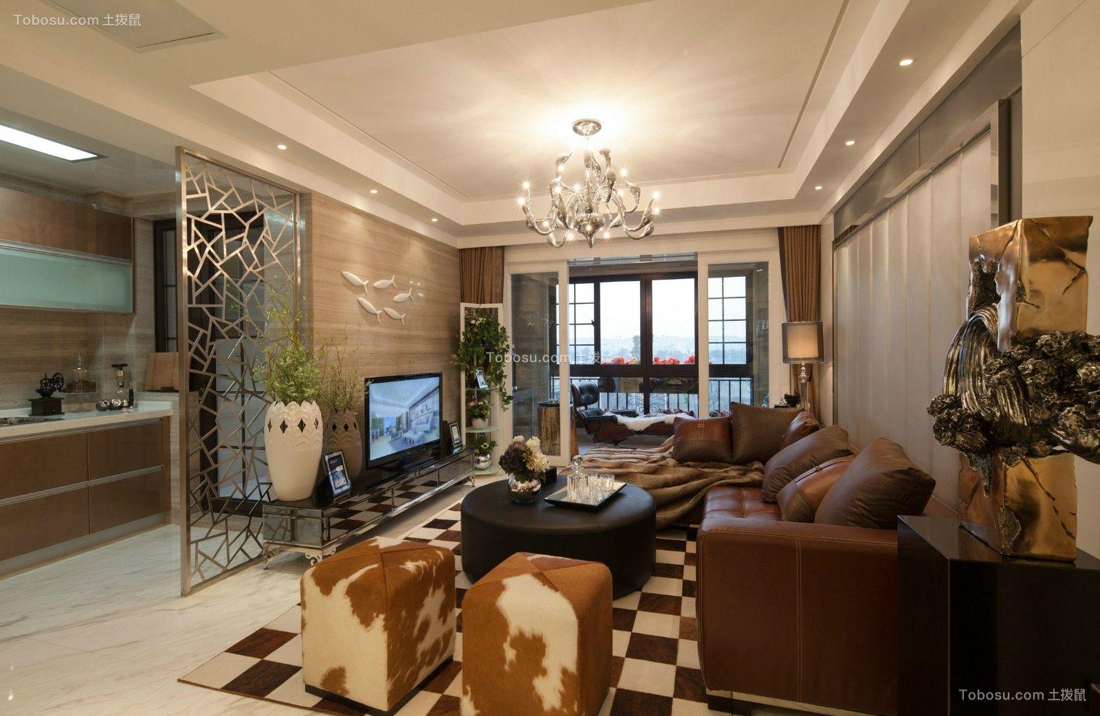 76平简欧风格两居室装修效果图