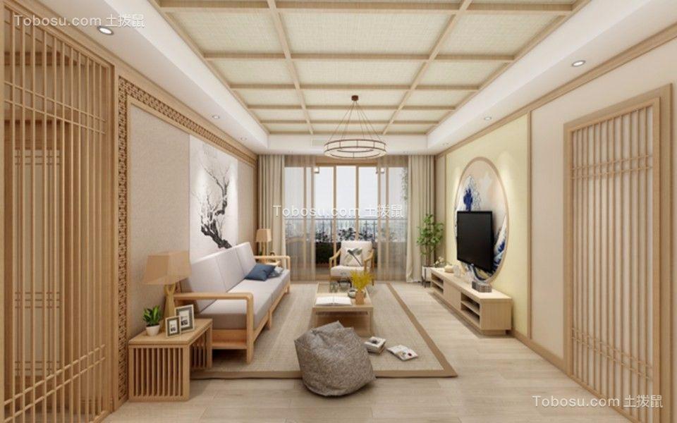 145平日式风格两居室装修效果图
