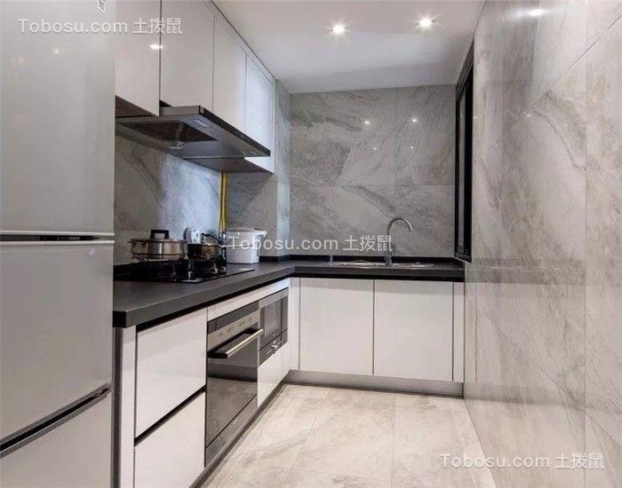 厨房 橱柜_83平现代简约风格两居室装修效果图
