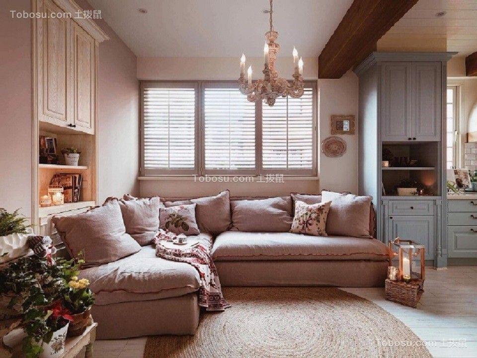 168平乡村风格三居室装修效果图