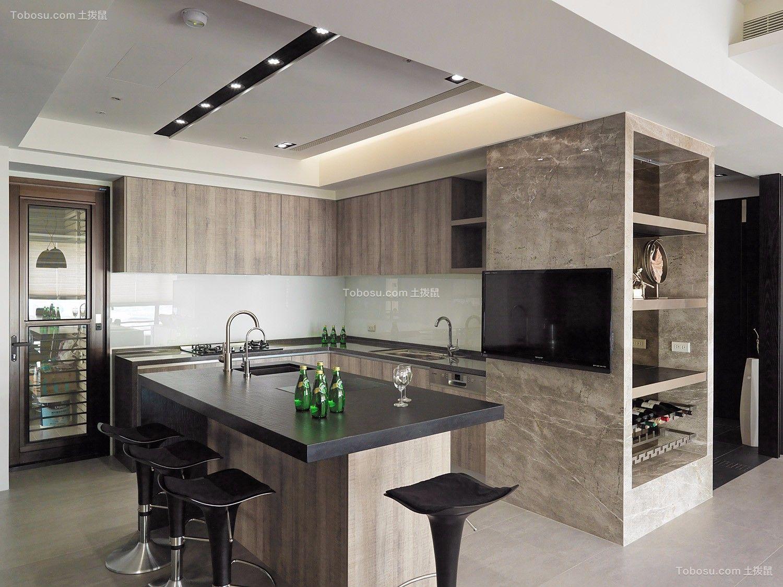 2019现代厨房装修图 2019现代厨房岛台装饰设计