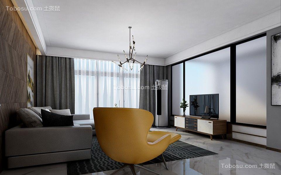 105平现代风格两居室装修效果图