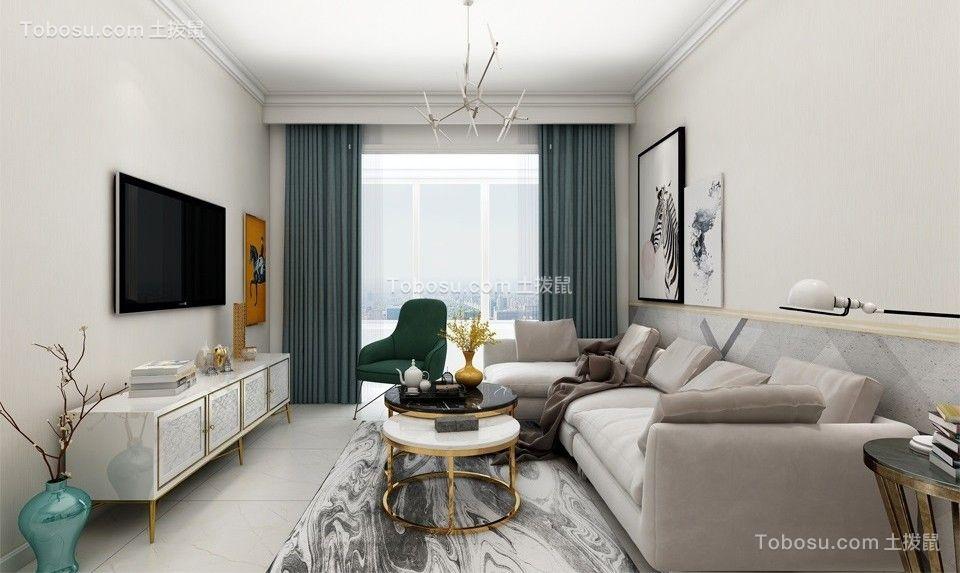 96平简欧风格两居室装修效果图