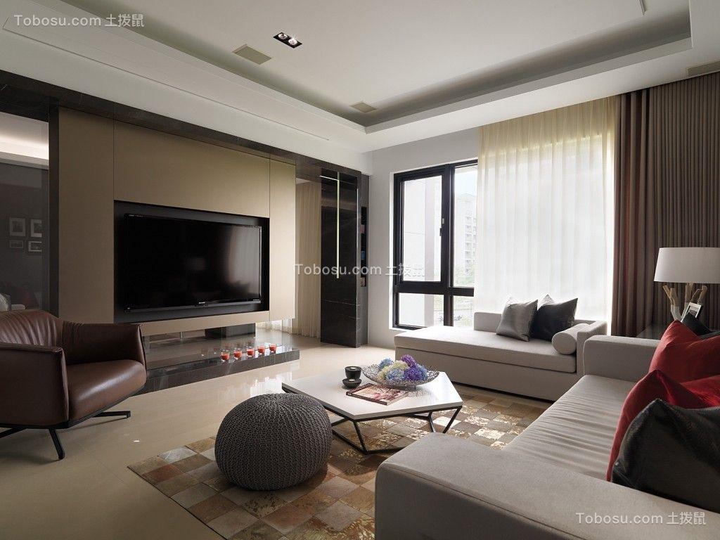 120平現代風格三居室裝修效果圖