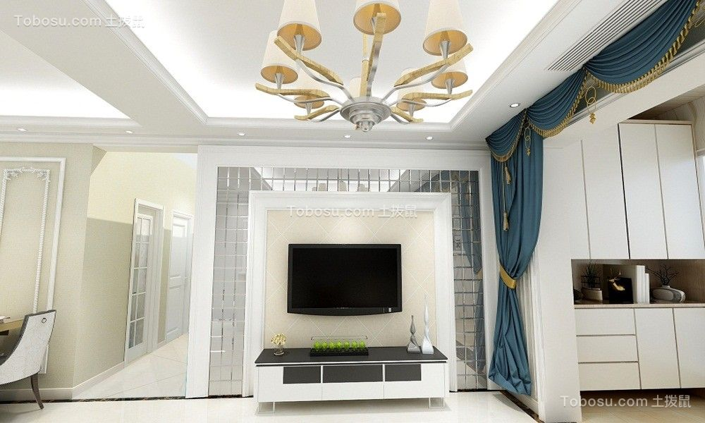 109平简欧风格两居室装修效果图