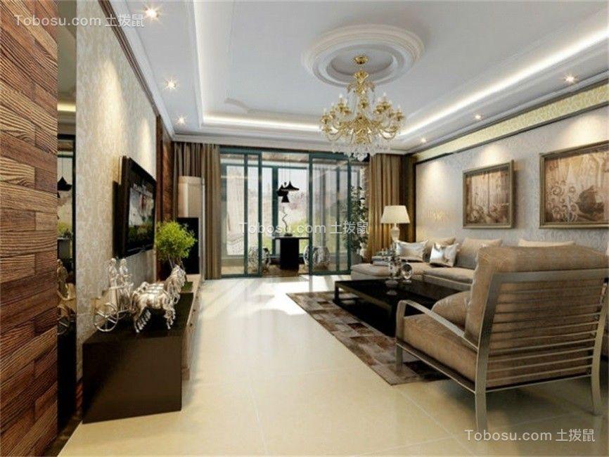 146平现代风格两居室装修效果图