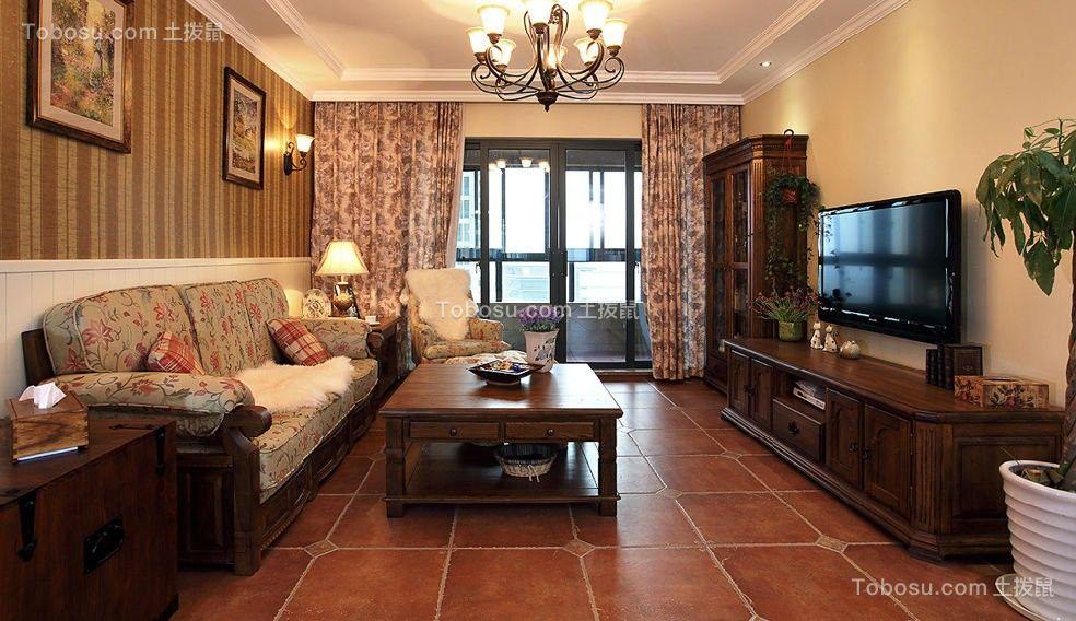 120平美式風格三居室裝修效果圖