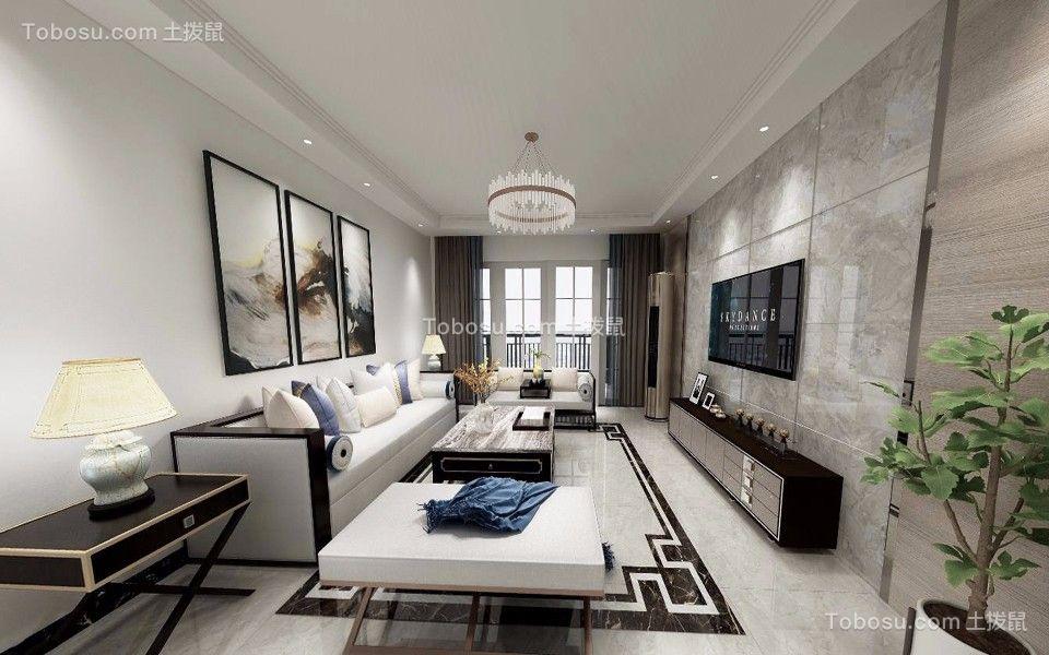 165平现代风格两居室装修效果图