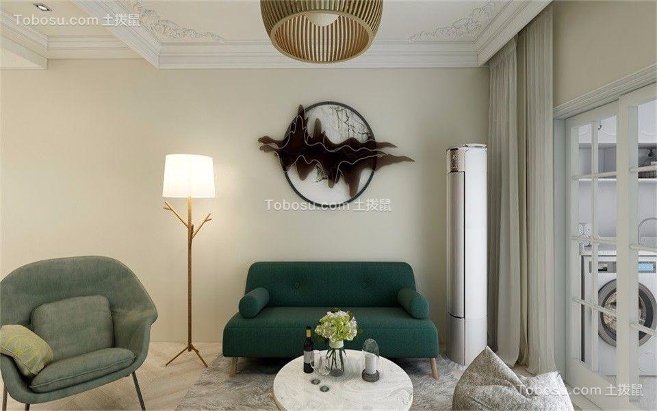 85平混搭风格两居室装修效果图