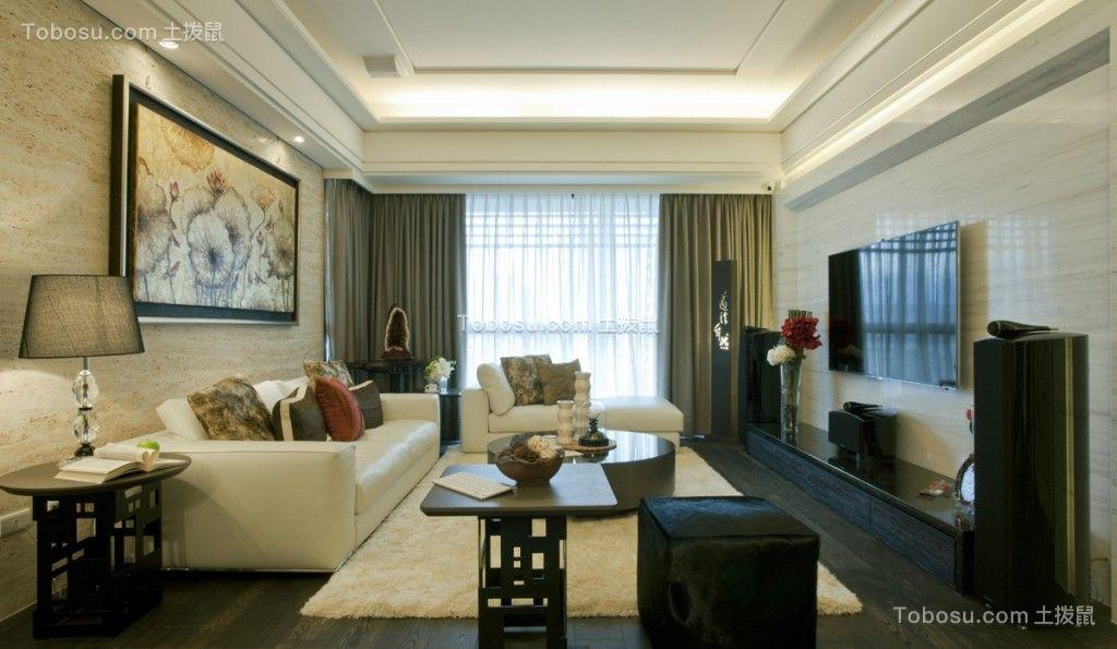 136平現代簡約風格三居室裝修效果圖