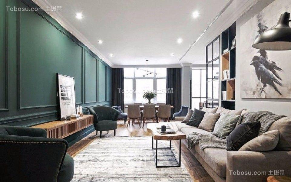 108平现代简约风格三居室装修效果图