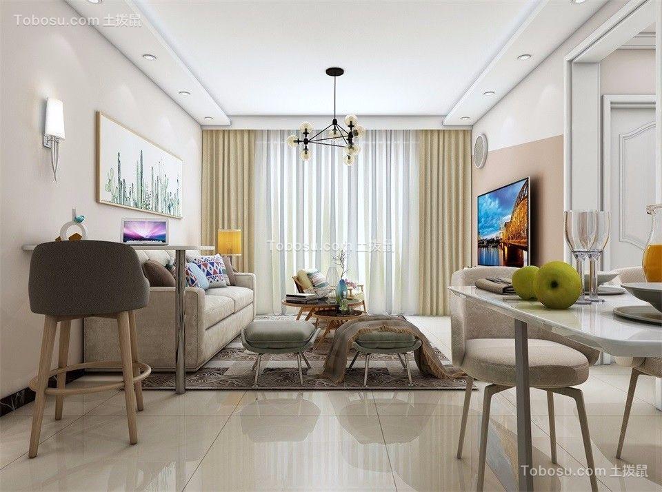 64平现代简约风格两居室装修效果图
