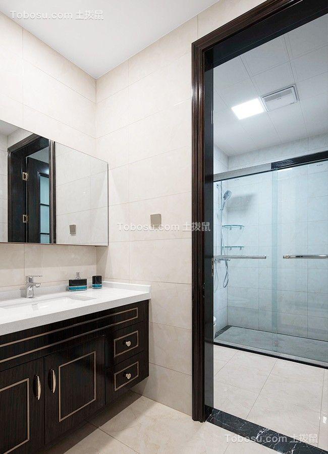2019现代欧式卫生间装修图片 2019现代欧式浴室柜装修图片