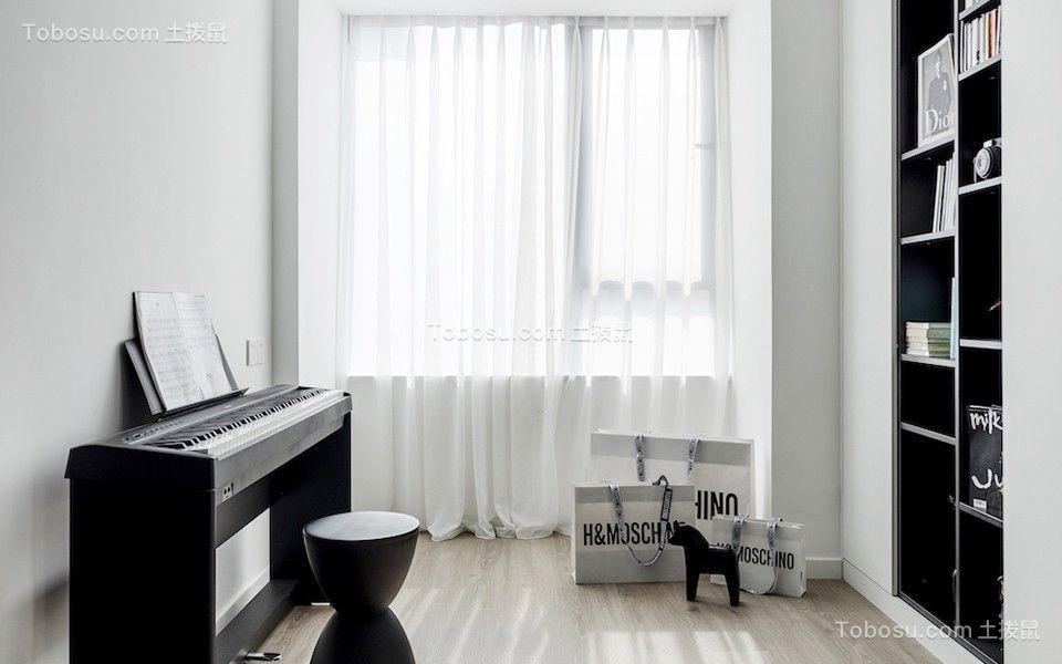 2020现代书房装修设计 2020现代窗帘装修效果图片