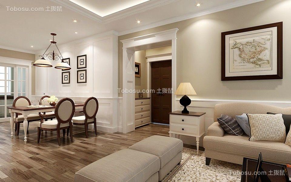 2019美式客厅装修设计 2019美式走廊装修效果图大全