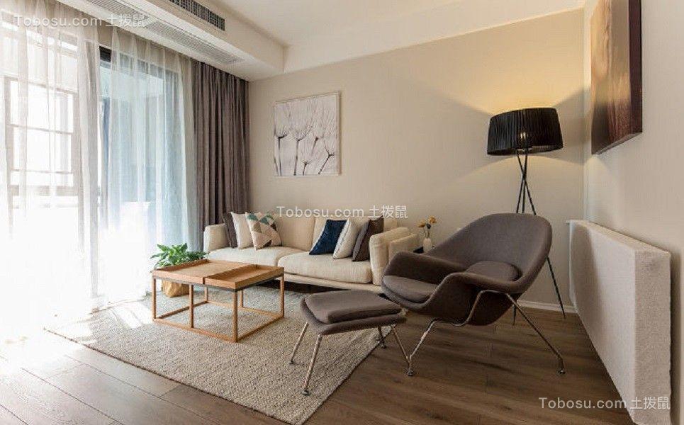 91平现代简约风格三居室装修效果图