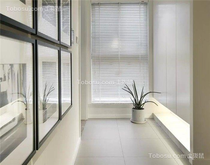 90平现代复式三室两厅装修效果图