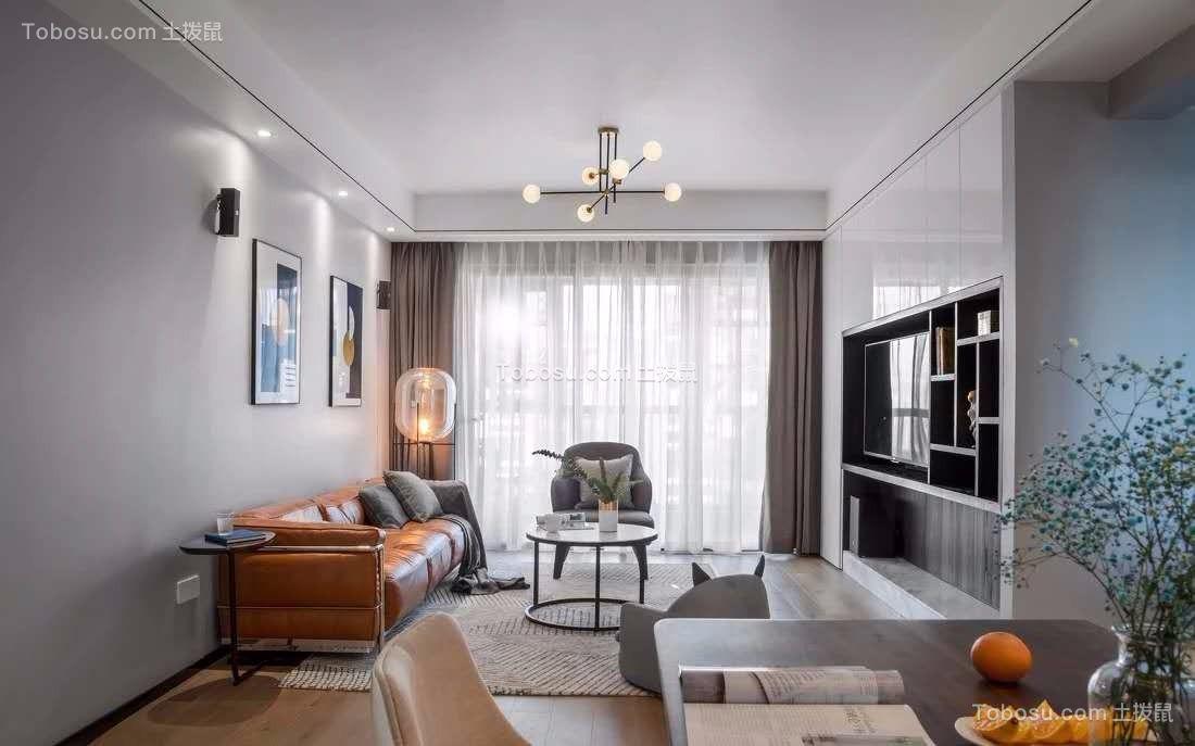128平米现代风格3室2厅装修效果图