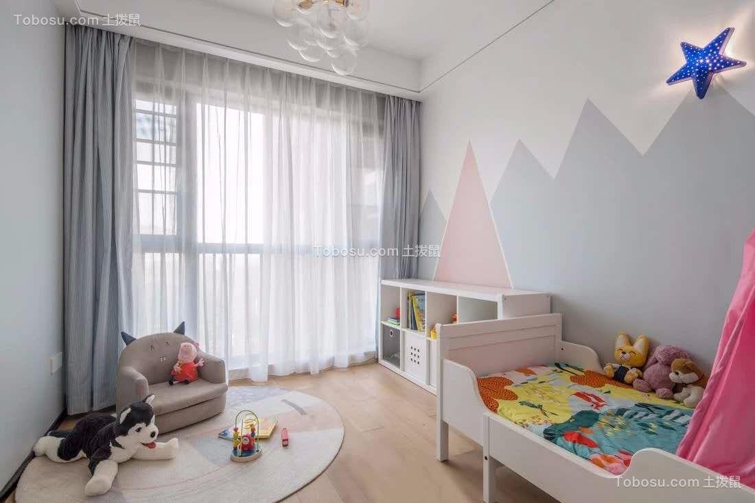 128平米现代风格3室2厅装修图片,轻松温暖
