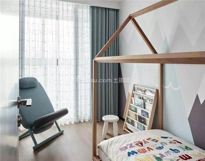 120平简约三居室装修效果图
