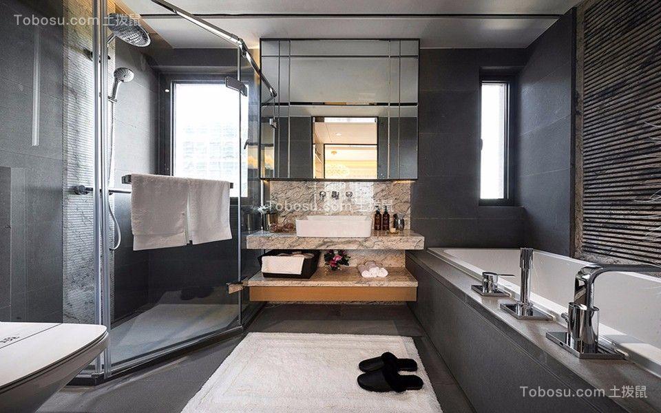 2019现代简约浴室设计图片 2019现代简约淋浴房设计图片