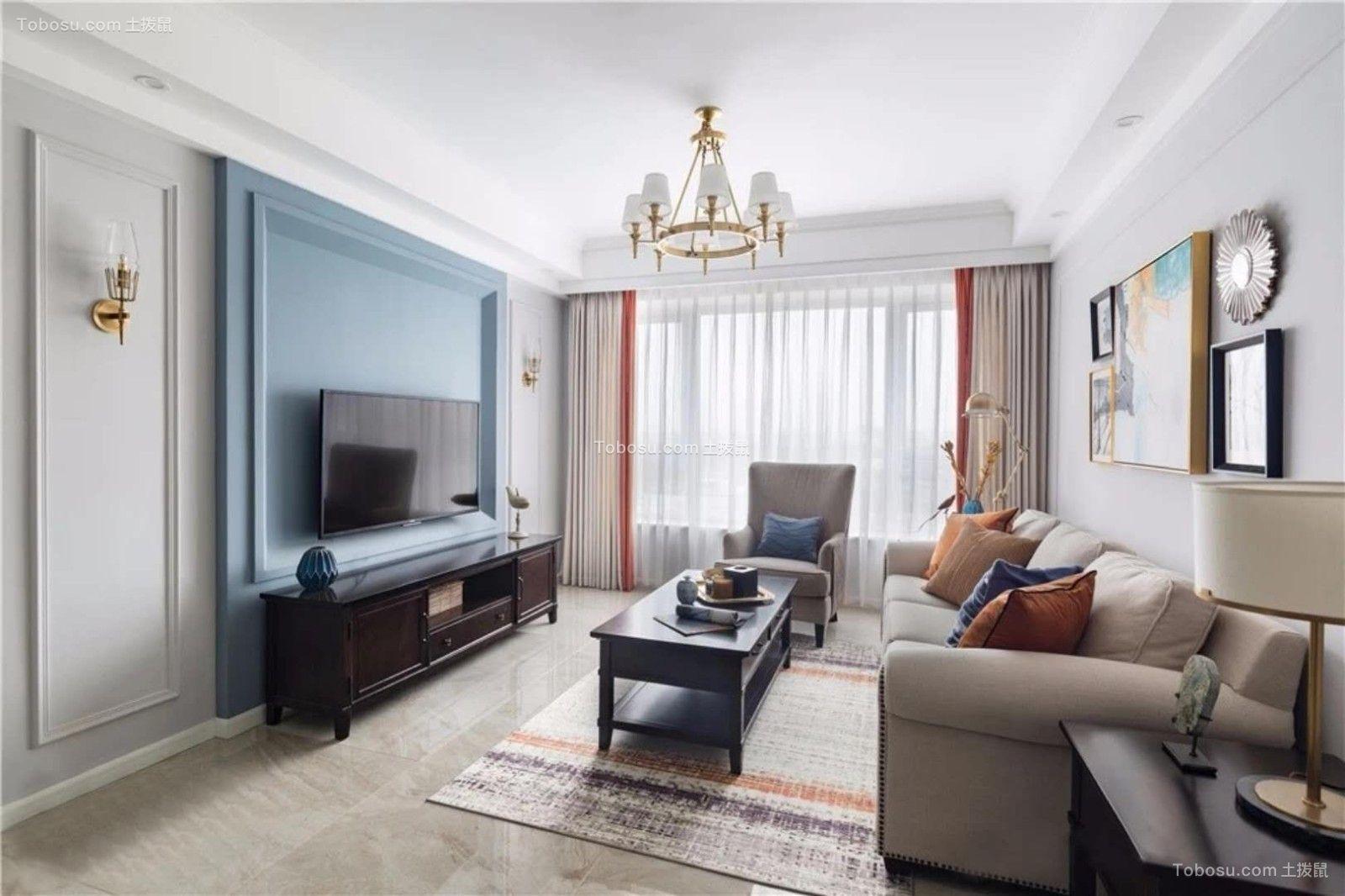 95平三居室美式风格图片