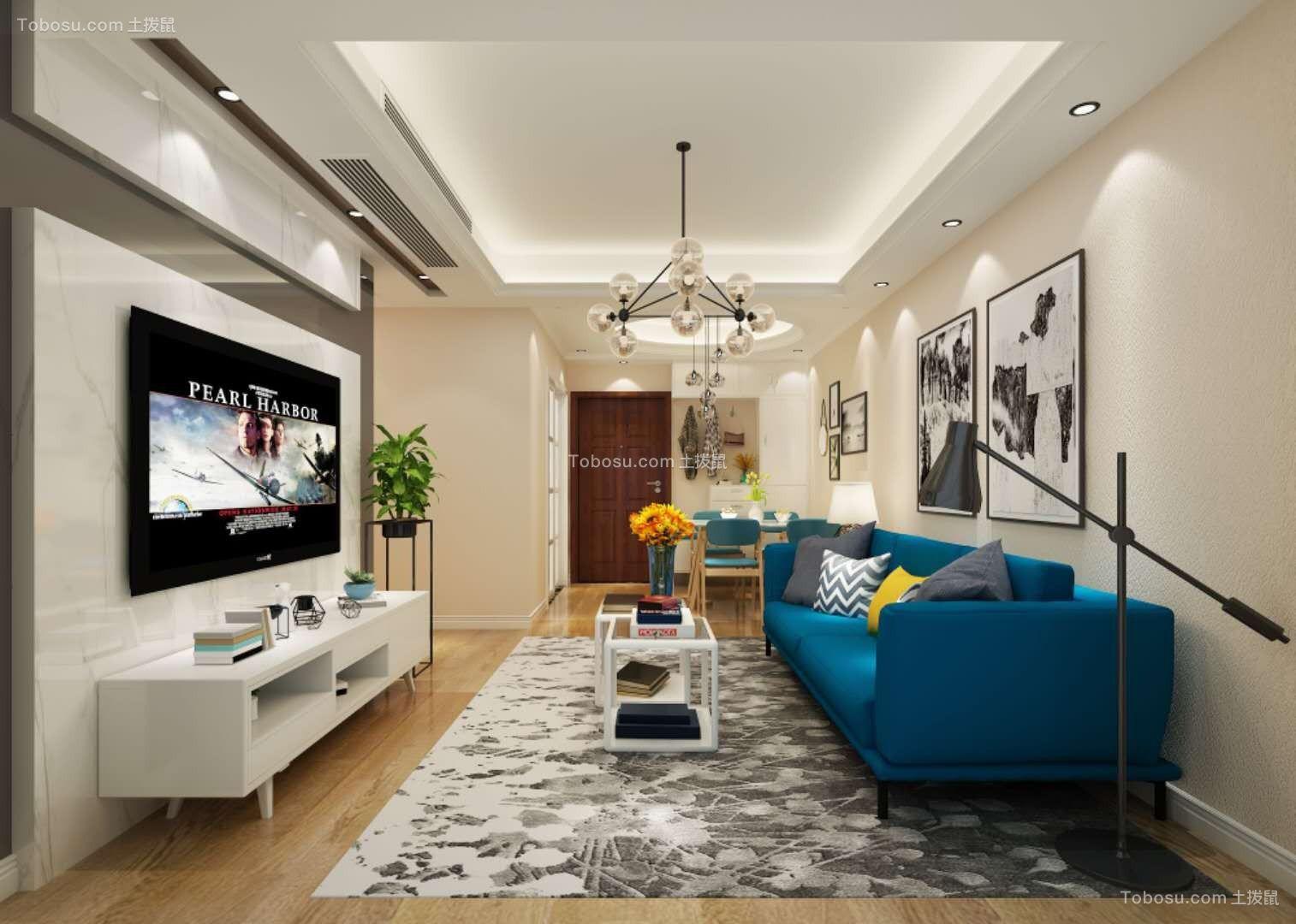 2019北欧客厅装修设计 2019北欧地板效果图