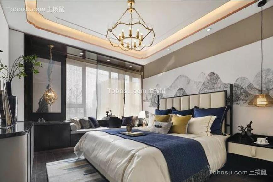 2020新中式卧室装修设计图片 2020新中式地板装修图片