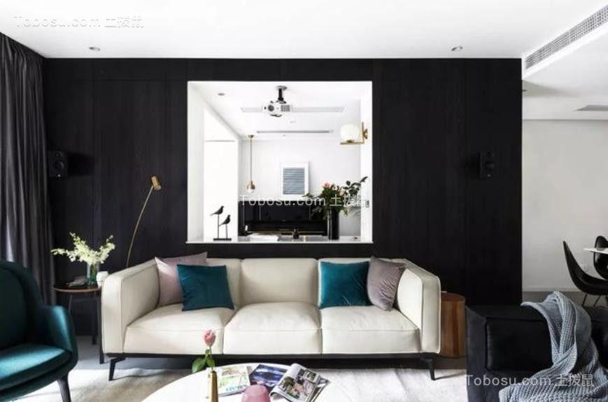 217平米大户型现代风格黑白配装修效果图