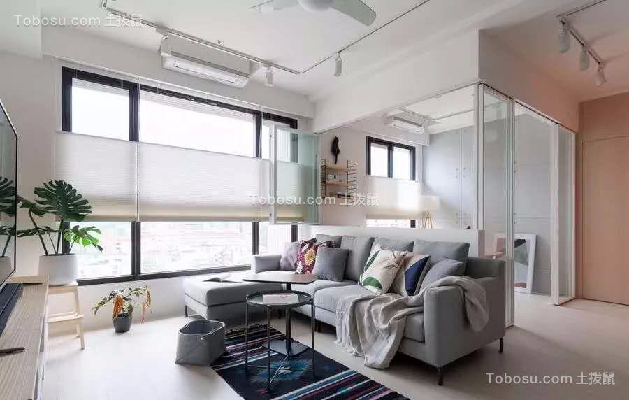 89平米北欧风,玻璃窗隔出明亮书房
