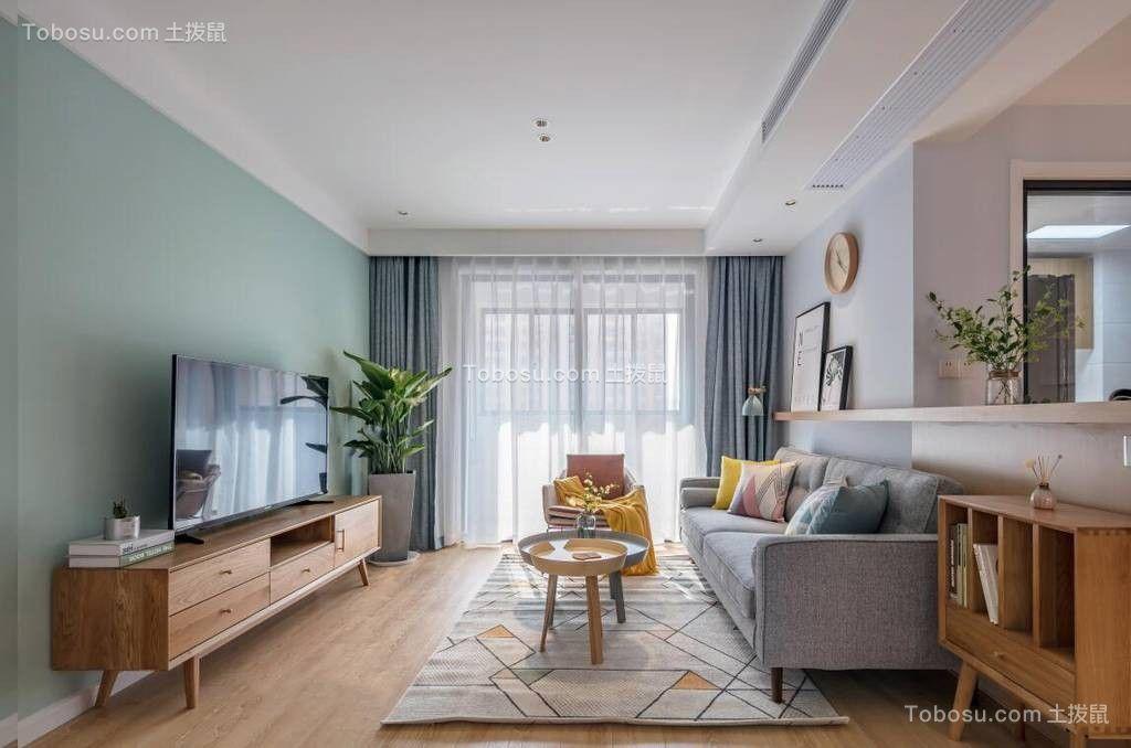 2019现代简约客厅装修设计 2019现代简约地板效果图