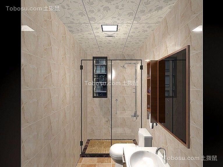 2019新中式浴室设计图片 2019新中式淋浴房设计图片