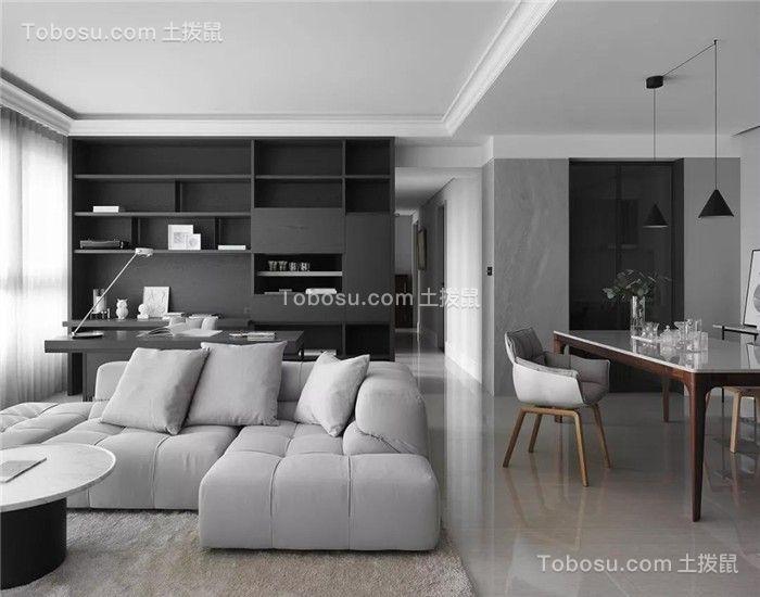 132平现代风格三居室装修效果图