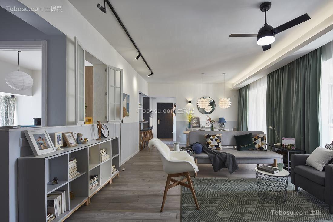 120平北欧风格两居室装修效果图