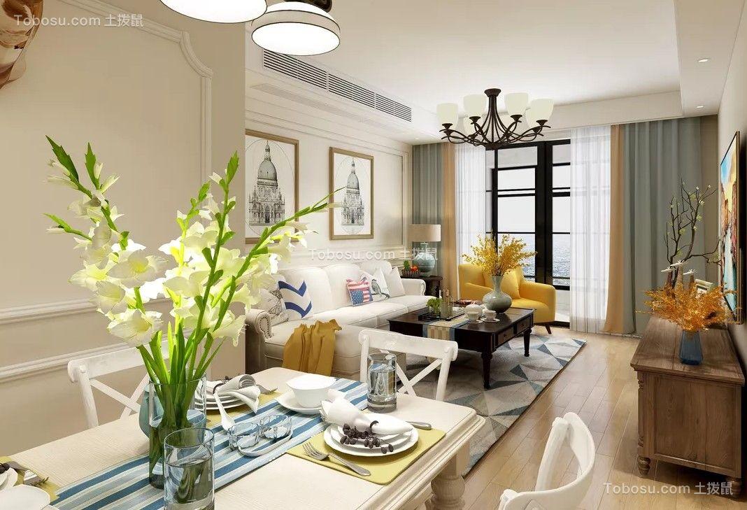 115平美式风格两居室装修效果图
