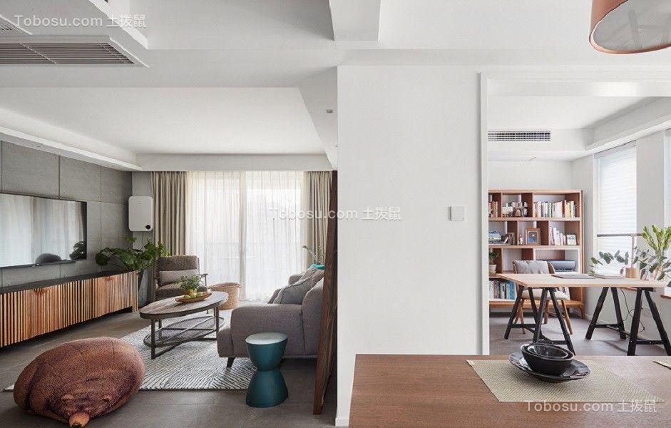 120平简约风格两居室装修效果图