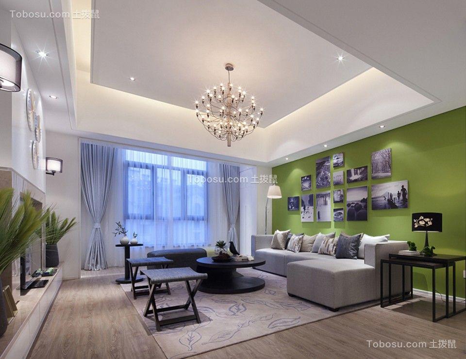 150平现代简约风格三居室装修效果图