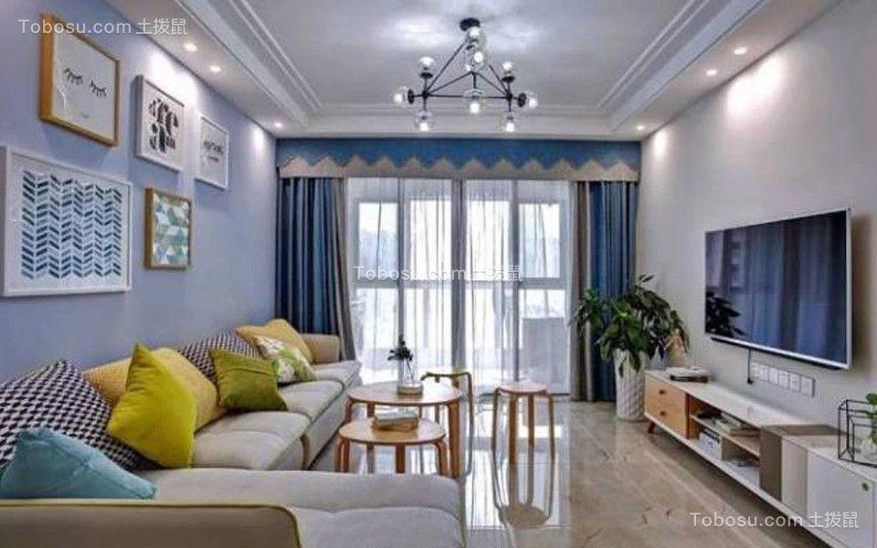 100平北欧风格两居室装修效果图