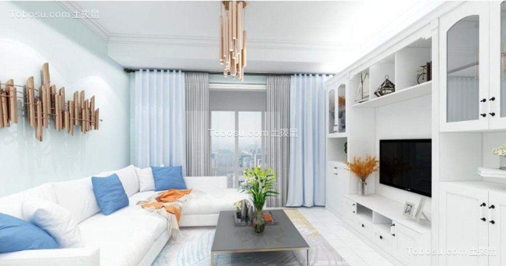 60平简约风格两居室装修效果图